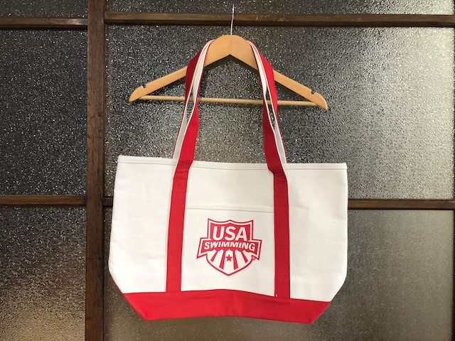 SPEEDO x USA SWIMMING TOTE BAG (NATURAL/RED)