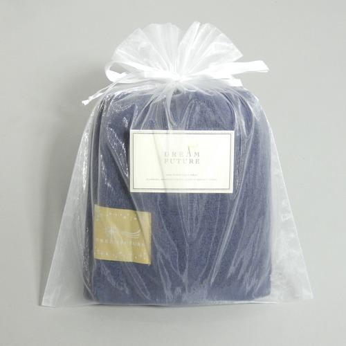 無撚糸(むねんし)高級Bath Towel Star Navy(夜空の夢) オーガンジー巾着入り