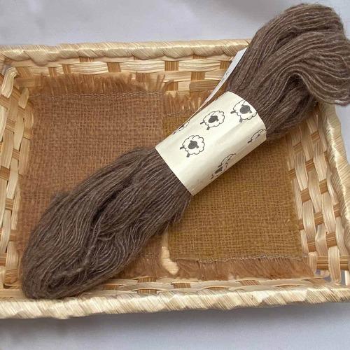 At7) 国産マンクスの単糸・手紡ぎ毛糸織り編み用