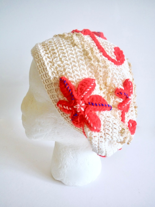 コットンベレー帽 レッド