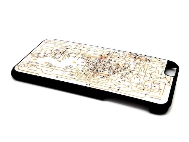 関西回路線図 iPhone6/6s  Plus ケース 白【LEDは光りません】【東京回路線図A5クリアファイルをプレゼント】