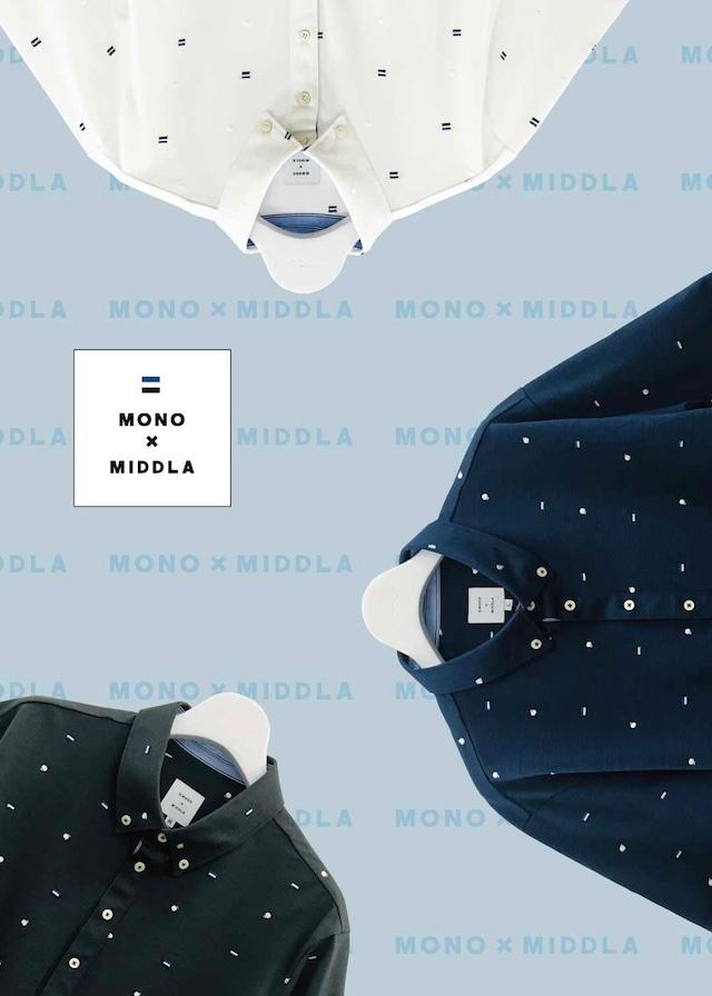 【先行予約アイテム】MONO×MIDDLA 総柄刺繍ポロシャツ