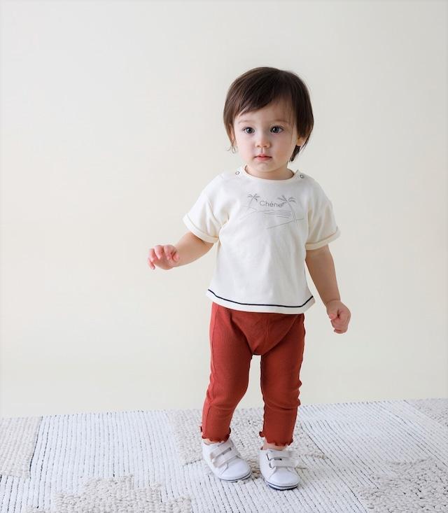 【ベビー服】綿シルクテレコスパッツ / ブリックレッド / 80~100サイズ