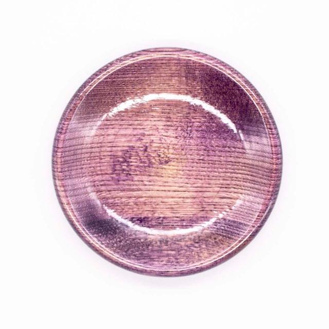 【限定1点 アウトレット品】山中漆器 栓3.5 豆皿 カラフル パープル 254438 豆豆市191