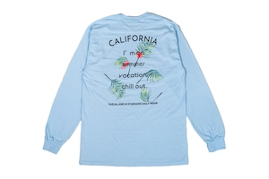 【aloha leaf long sleeve】ocean blue