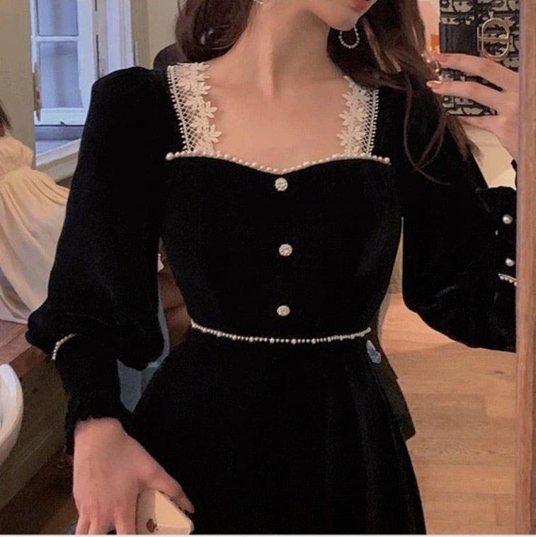 pearl elegant dress