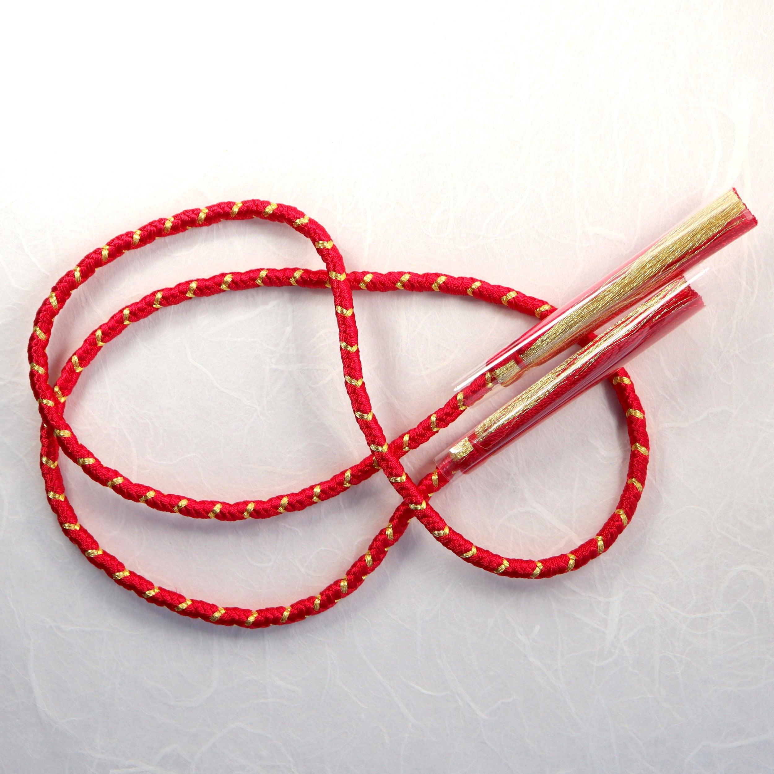 【組紐】ローズレッド 房付き飾り紐