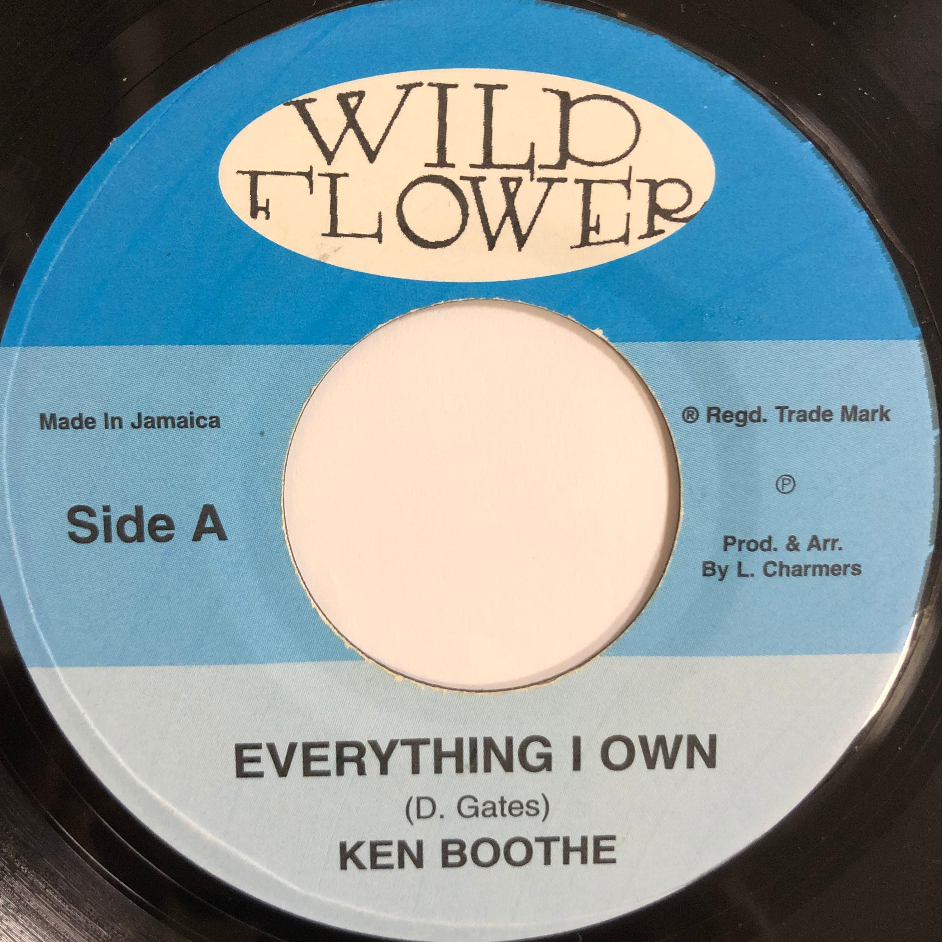 Ken Boothe(ケンブース) - Everything I Own【7-20198】