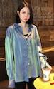 【送料無料】シャツ 長袖 レトロ ジャケット 香港スタイル S M L XL カラバリ豊富 サイズ豊富