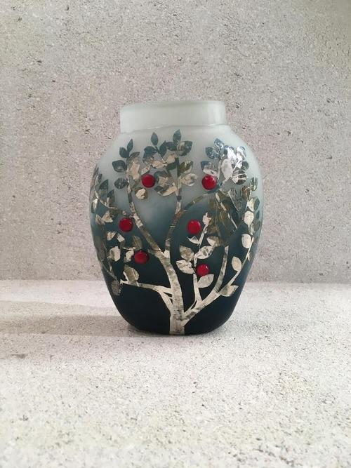 New glass art flower vase
