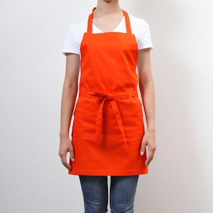SALE カラーズエプロン フルエプロン オレンジ