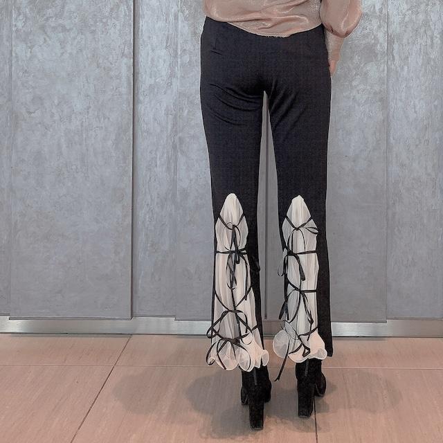 ❤︎ back tulle ribbon pants