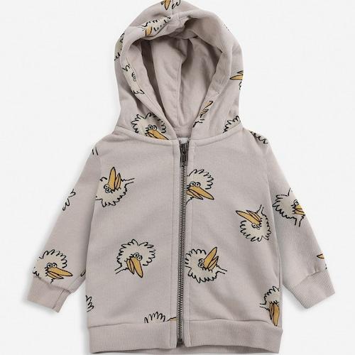 BOBOCHOSES Birdie All Over zipped hoodie(12-36m)