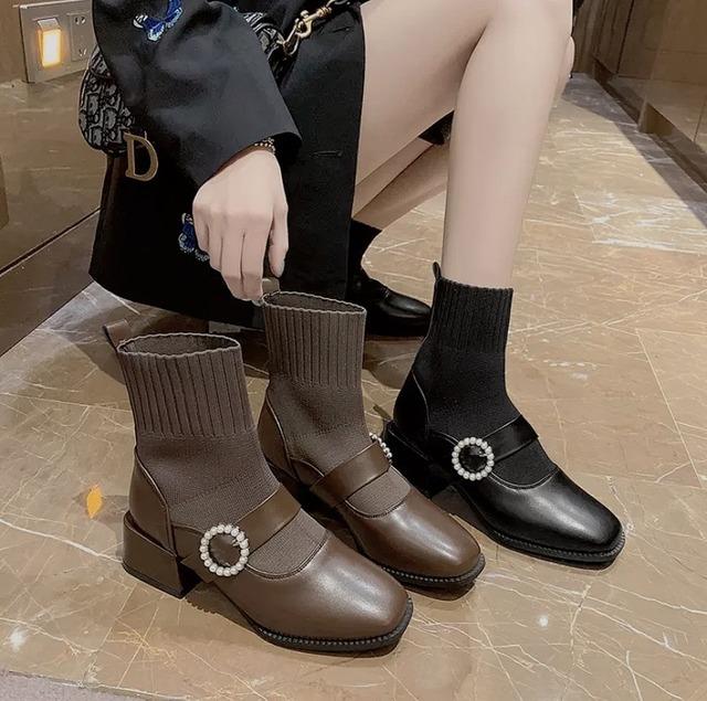 socks bijou boots 2color