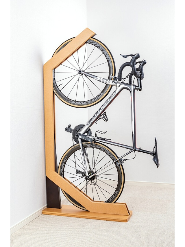 【送料込】愛車をインテリアに 木製自転車スタンド「ウィリースタンド」