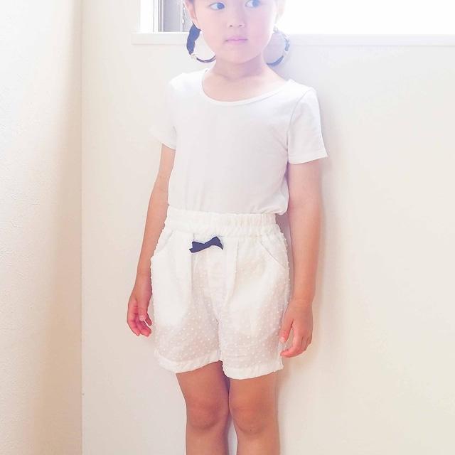 スカート/ワンピースの下に履くパンツ(みずたまホワイト)