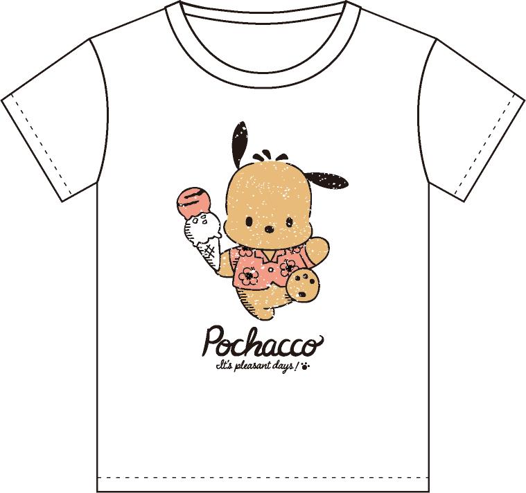 ポチャッコ cafe 限定コラボティーシャツ(アイスクリームタイプ)