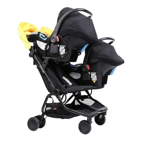 """【新商品】mountain buggy """"nano duo™ twin car seat adaptor"""" マウンテンバギー ナノデュオ トラベルシステムアダプター&ベルト(2台同時取り付け用)"""