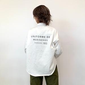 BLANC basque (ブランバスク) バックプリントパールボタンシャツ BB11-101