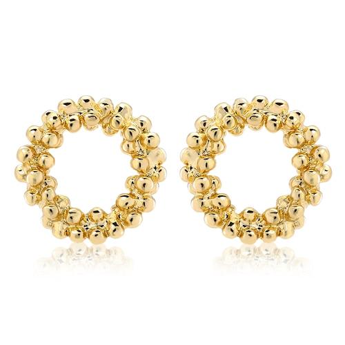 Bubble circle Pierce(gold)