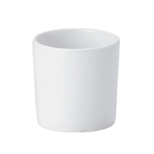 強化磁器 ミニカップ(φ5.4cm×H5.4cm/満水75ml) カップ 白無地【1959-0000】