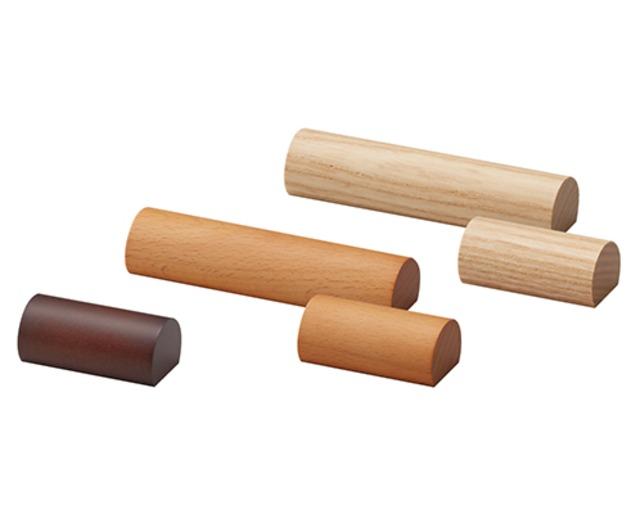 木製カマボコ型ブロックSサイズ ネックレスバー 木目塗装 AR-1927-NW-S