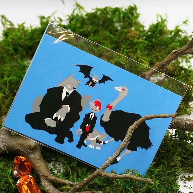 ゾンビとカメ ポストカード(集合)