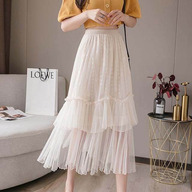 【yurinaさんYouTube着用】シフォンフリルスカート