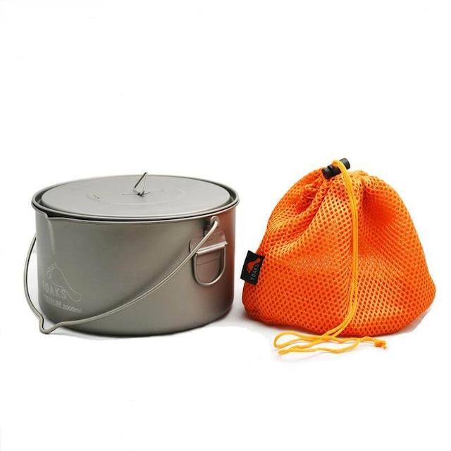 新品 Toaks Titanium bail handle pots -2000ml