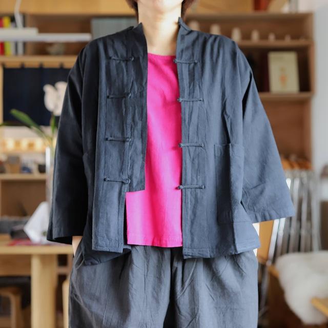 ヂェン先生の日常着 半袖チャイナシャツ