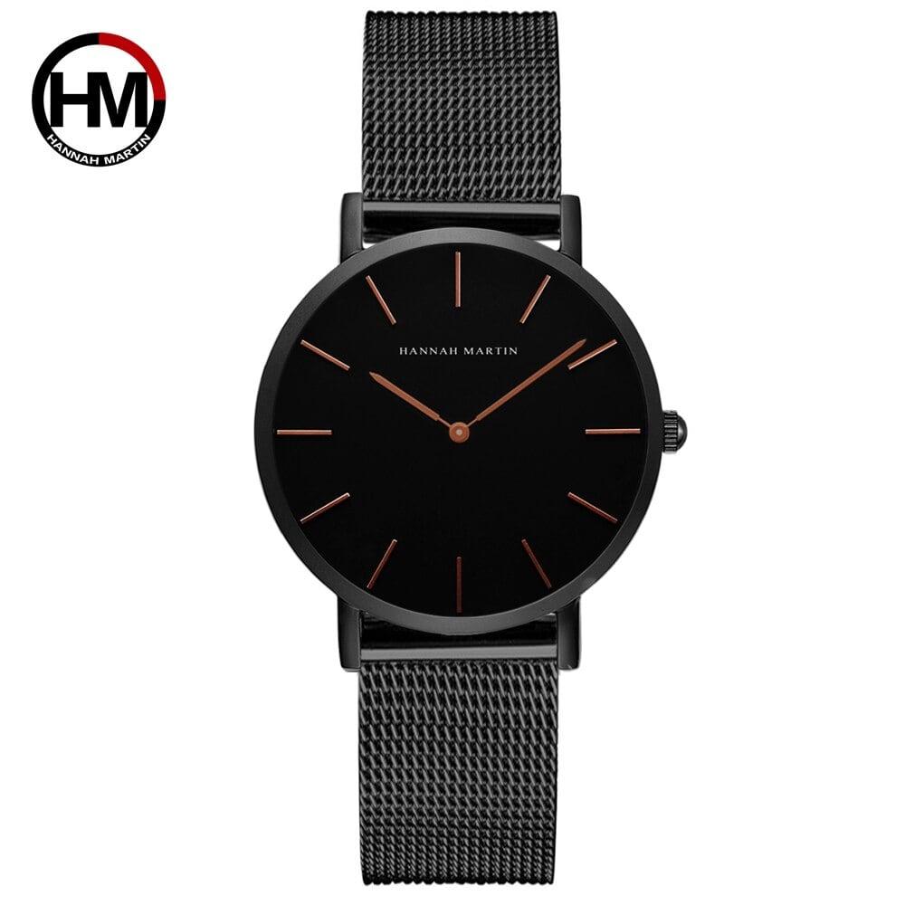 クォーツムーブメント防水ブルーレディース腕時計ステンレス鋼バンドシンプルなデザインのクラシック腕時計女性CH36WFH