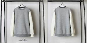 Switch Crewneck Pullover Gray / White