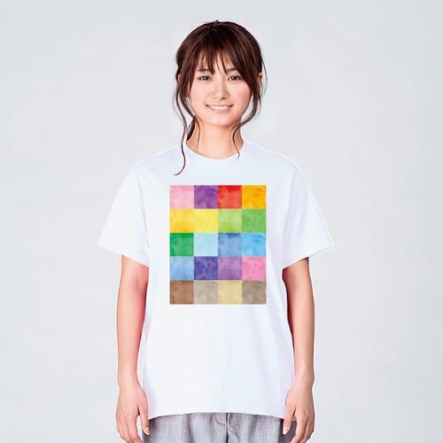 カラフル 水彩 Tシャツ メンズ レディース おしゃれ かわいい 白 夏 プレゼント 大きいサイズ 綿100% 160 S M L XL