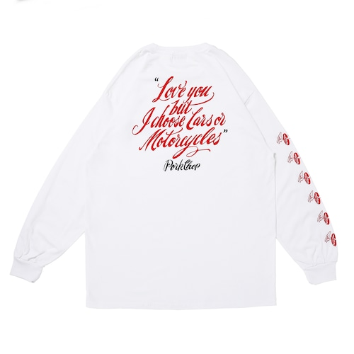 LOVE YOU L/S TEE/WHITE