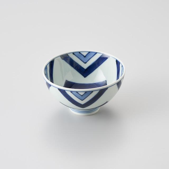 """【青花】""""Classic"""" 3.8寸丸飯碗(江戸紋)"""