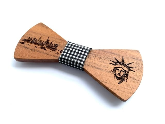 オフィシャル限定。木製 蝶ネクタイ #CityContrast NY - 画像2