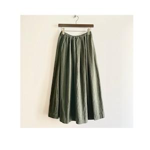 C-21685 Linen Wool Tuck Skirt
