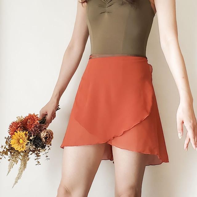 NORMAL wrap skirt【レッドブリック×ブラウン】