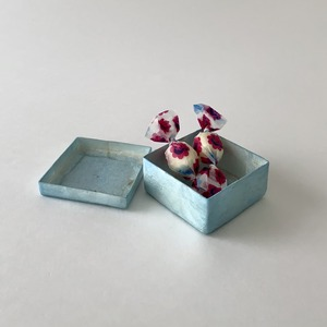 Box Capiz Square l.blauw トリンケット ボックス スクエア ブルー