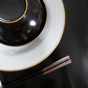 【30991】 ノリタケ金縁のスープ皿/ NORITAKE GOLDEN RIM PLATE