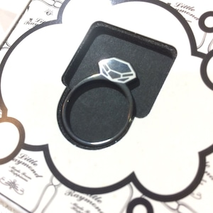 LITTLE RAYMOND FRAT RING ダイヤモンド ブラック