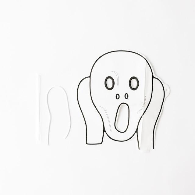 ムンク カラーリング3Dマスク