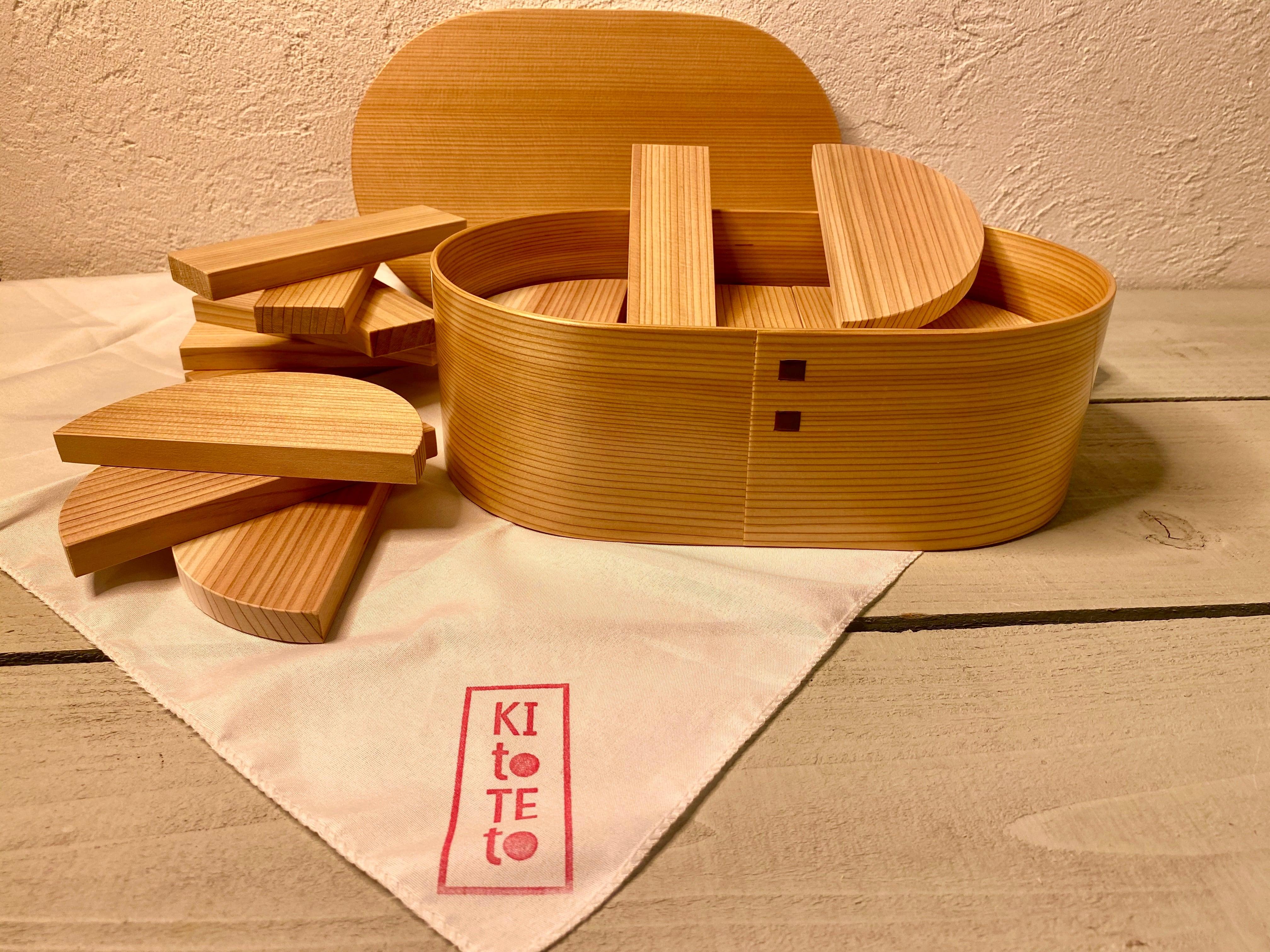 コロナに負けるなキャンペーン!!おもちゃ20%OFF!! KItoTEto大館工芸社 謹製 百年杉の森の積み木
