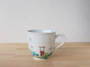 アルパカとクローバー マグカップ(工房直売価格)