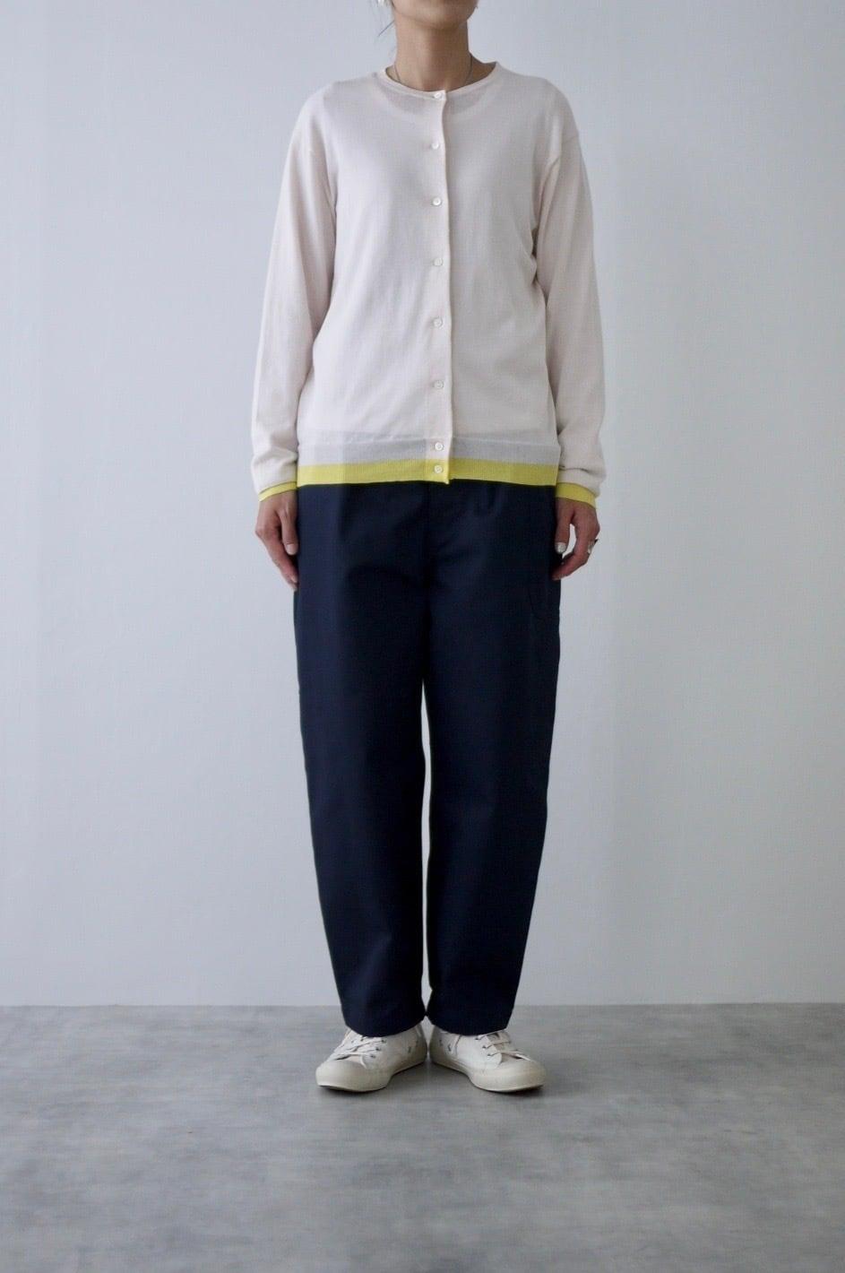 atelier naruse  | cotton silk linen crew neck knit-cardigan