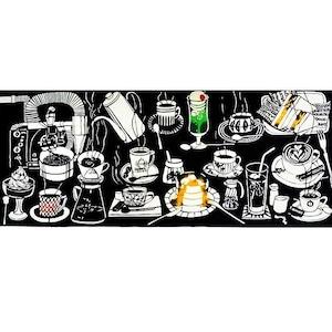 手ぬぐい「喫茶店」(エスプレッソ)