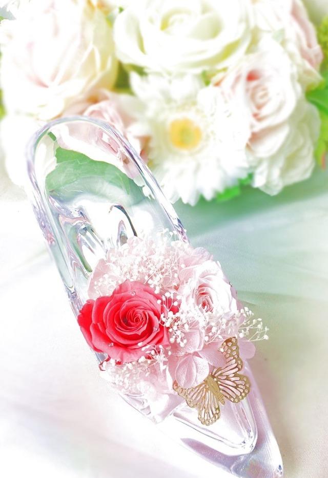 【母の日】キラキラシンデレラ靴 Pink 【お誕生日に】