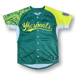 【YBC】Baseball Shirt Green × Yellow