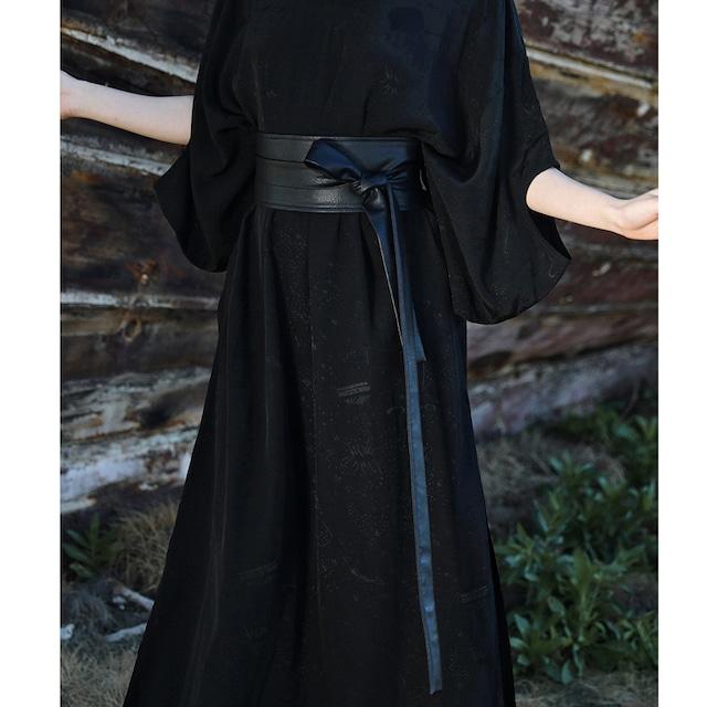 【大青龍肆シリーズ】★ベルト★ 帯 小物 飾り物 合わせやすい PU ブラック 黒い 無地 シンプル