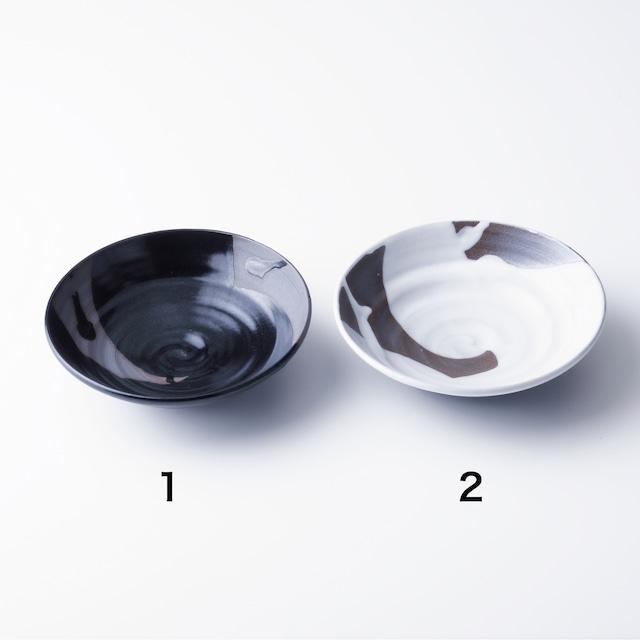 "京焼鉢 流彩 白/黒  Kyo-ware bowl""RYUSAI WHITW/BLACKI"""